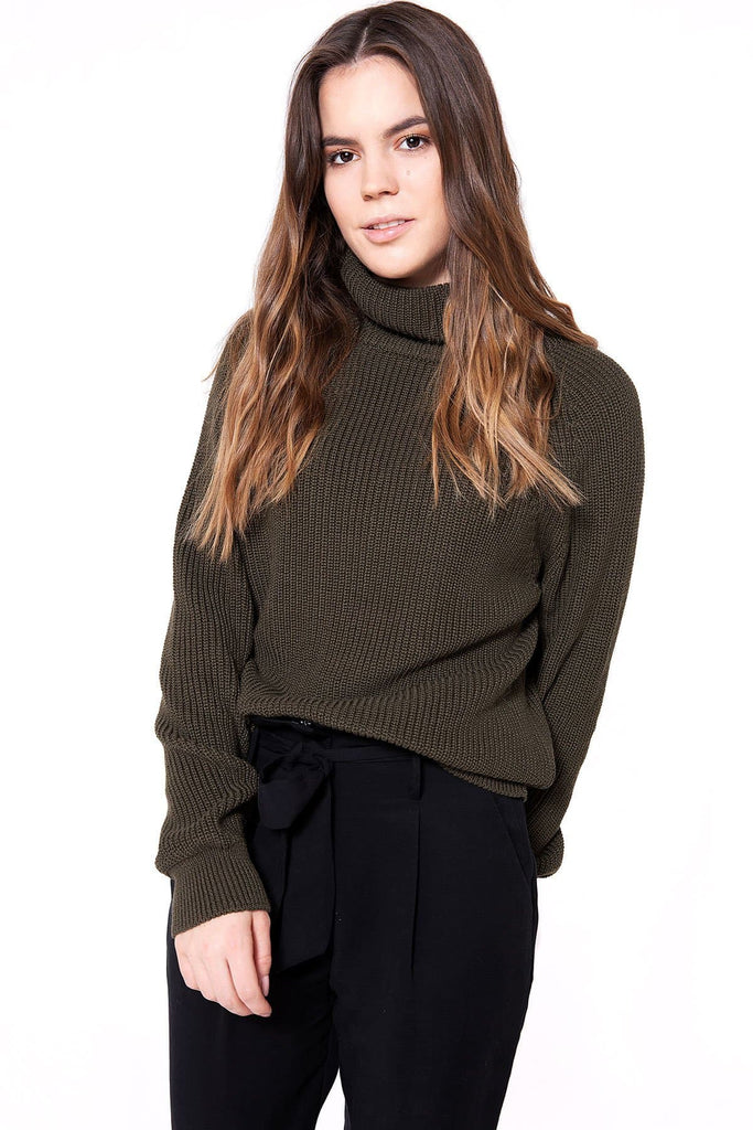 Liv Organic Cotton Sweater in Khaki