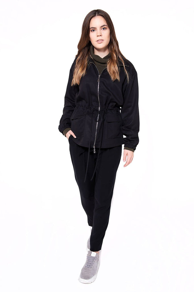 Jacke Joey Natural Tencel Jacket in Black