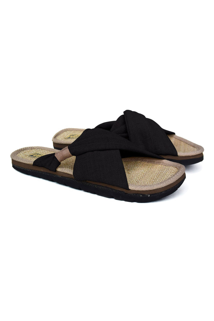 Helena Vegan Sandal in Black