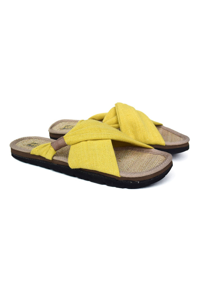 Helena Vegan Sandal in Yellow