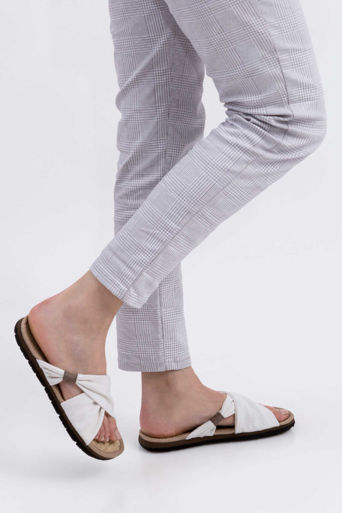 Helena Vegan Sandal in White