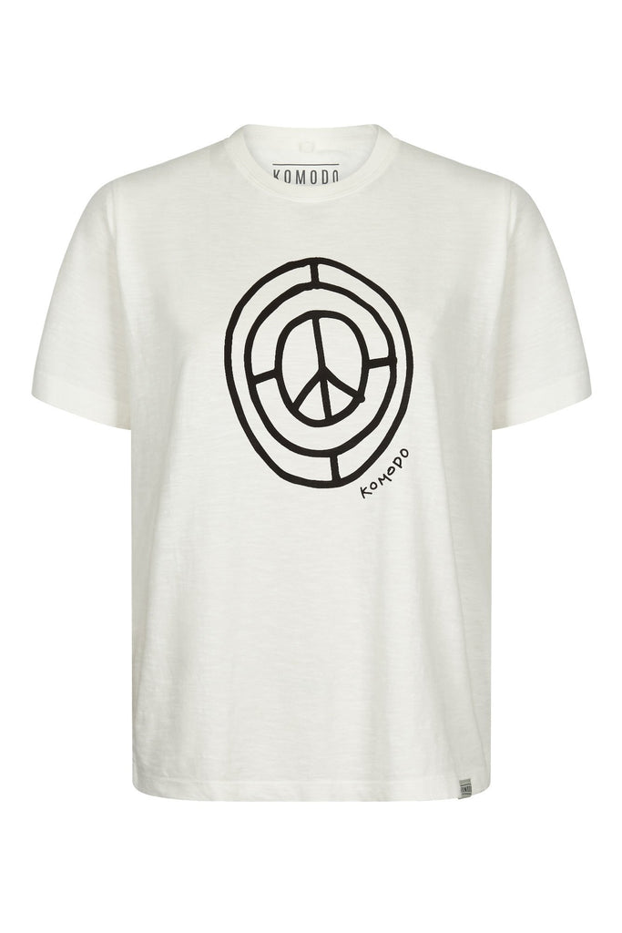 Sign Of The Times Organic Cotton T-shirt in Off White