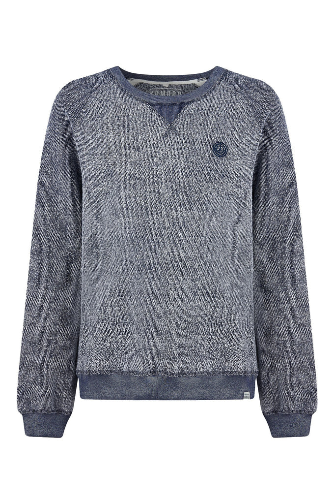 Anton Organic Cotton Sweater in Indigo Melange