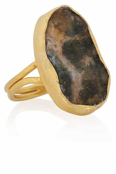 Cybele Handmade Gold-Plated Silver Moss Ring