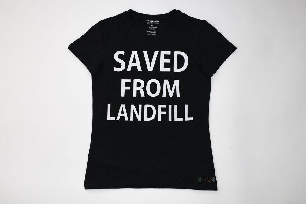 Saved From Recycled Cotton Women's T-shirt in Black