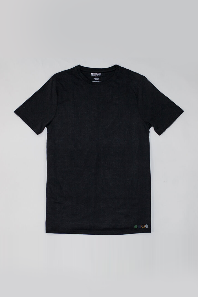 3-Pack Recycled Cotton Men's T-shirt in Black