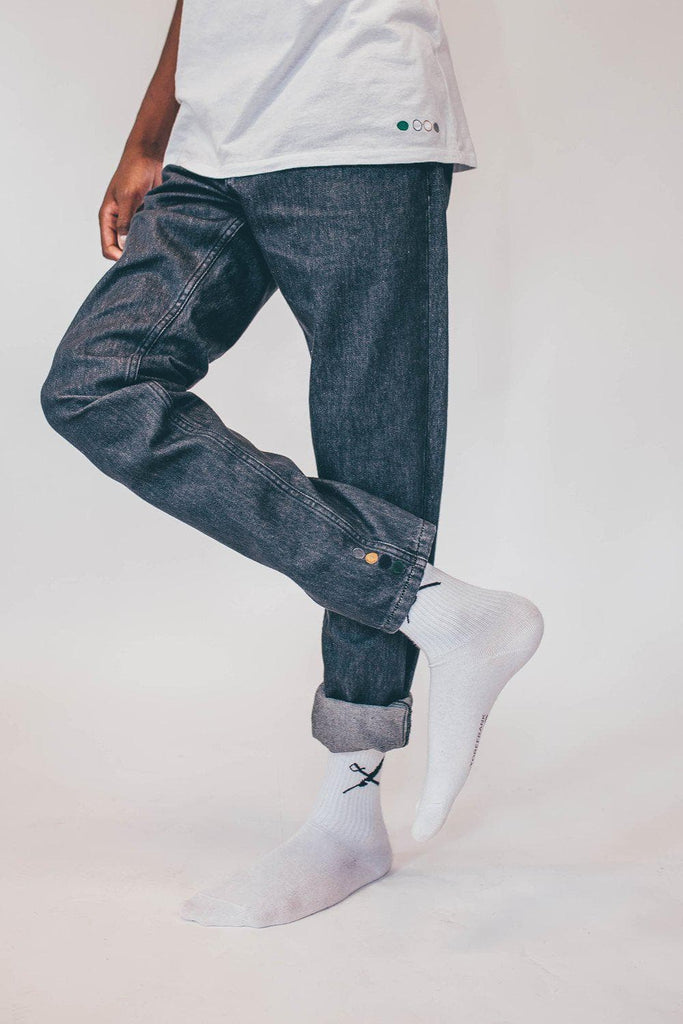 Mike Organic Cotton Jeans in Grey