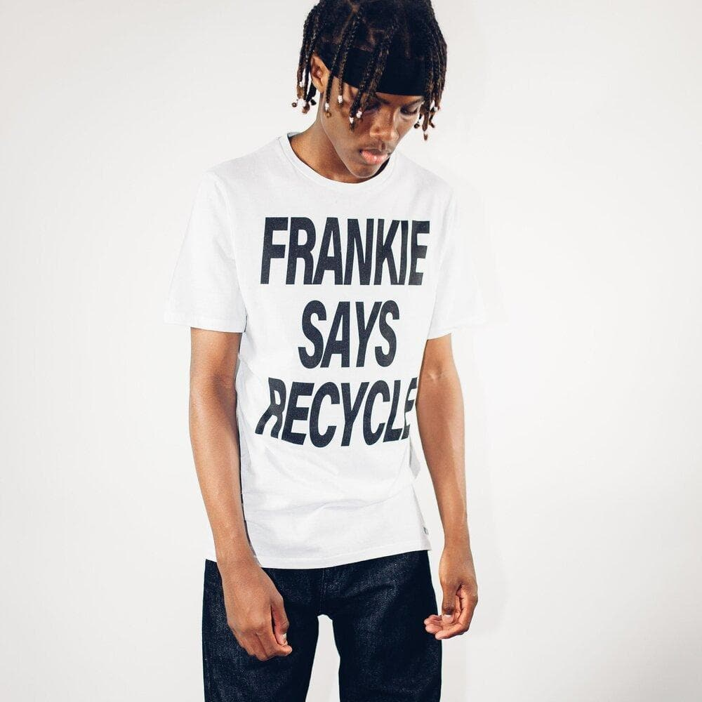 Frankie Says Recycled Cotton Men's T-shirt in White