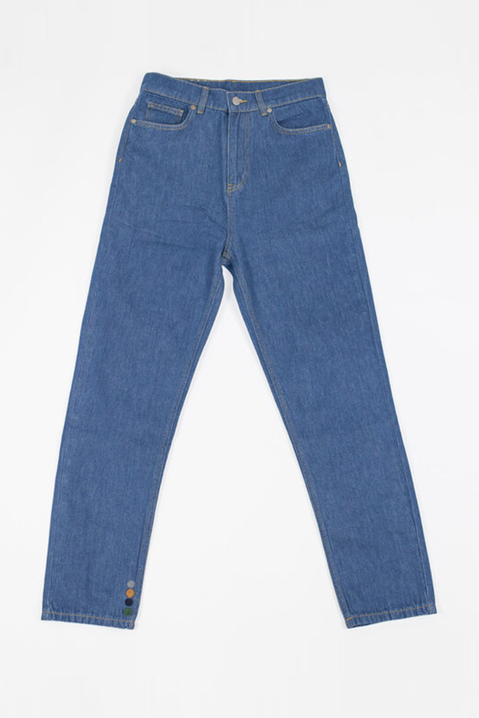 Hardy Organic Cotton Jeans in Mid Blue