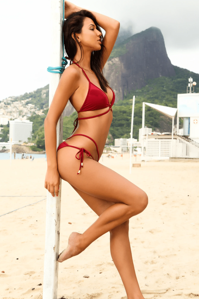 Bellini Biodegradable Bikini Bottom in Burgundy
