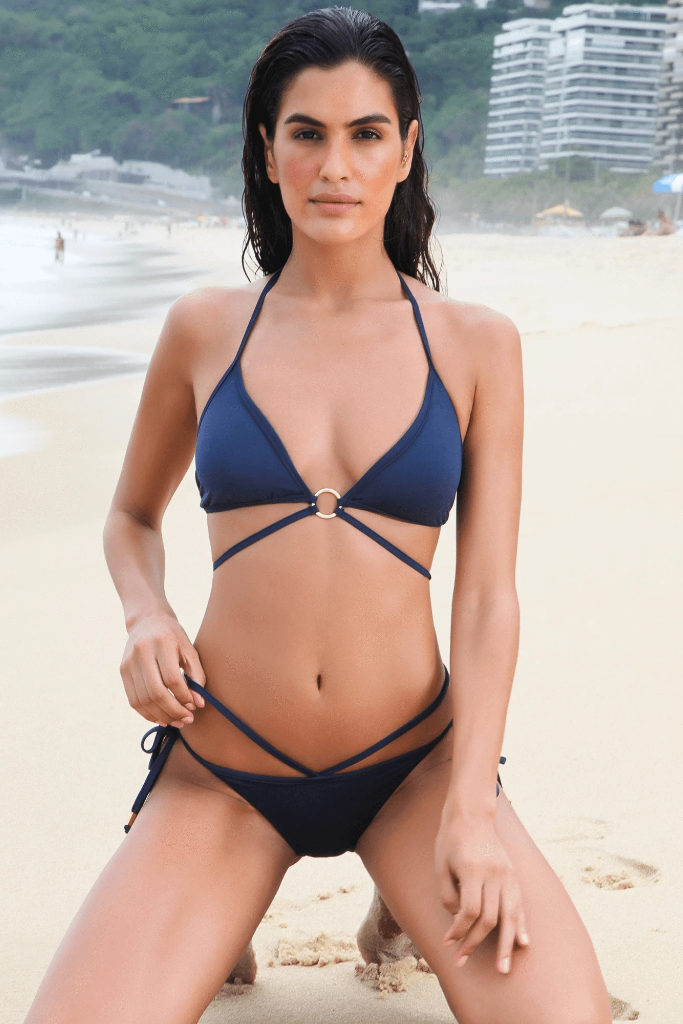 Bellini Biodegradable Bikini Bottom in Blue