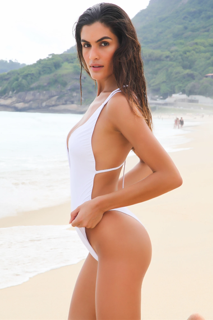 The Absinthe Biodegradable Swimsuit in White