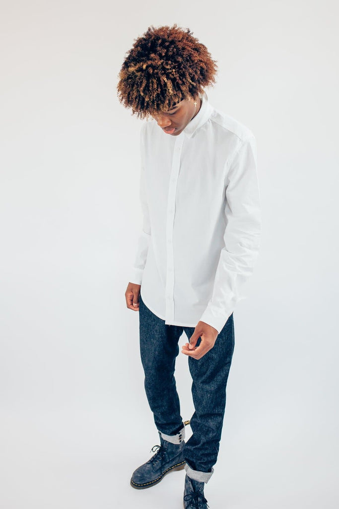 Charles Recycled Cotton Men's Shirt in White