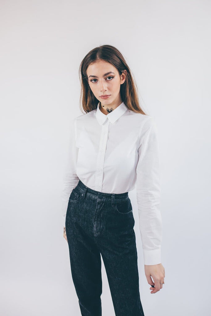 Emily Organic Cotton Shirt in White