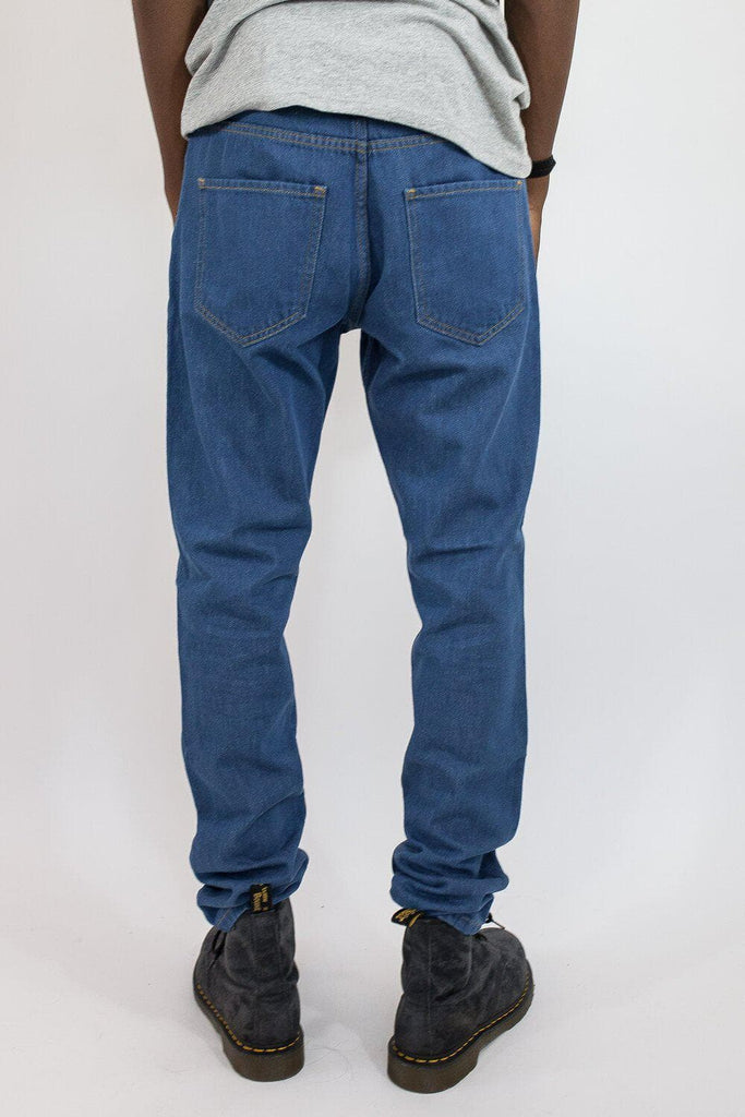 Mike Organic Cotton Jeans in Mid Blue