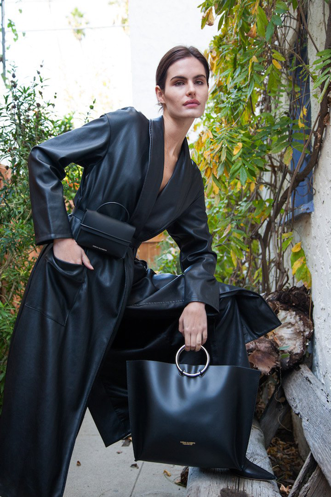 The Safe Ethical Leather Handbag in Black