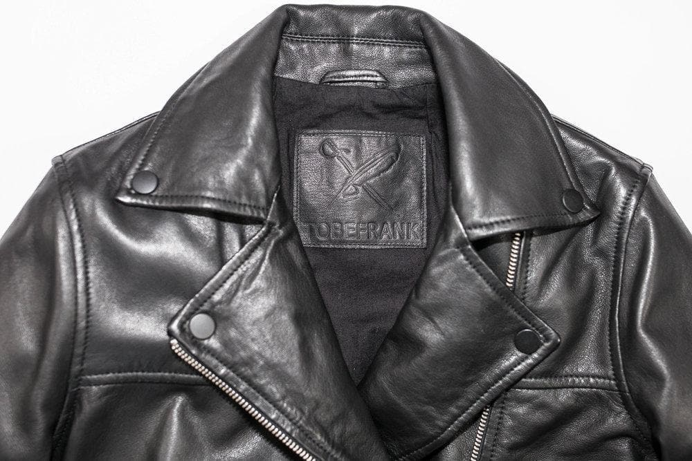 Frank Ethical Bi-product Women Leather Jacket in Black