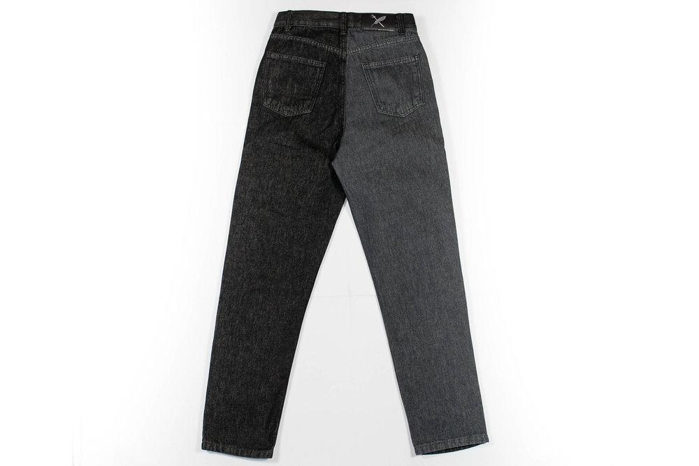 Liz Organic Cotton Denim Women's Jeans in Black & Gray