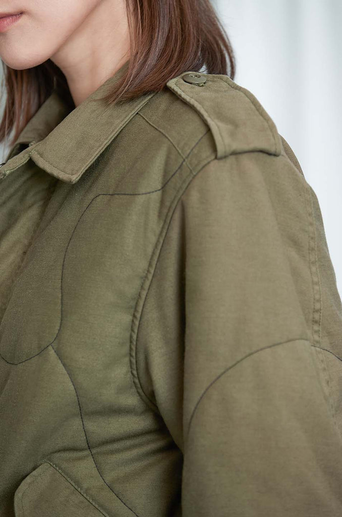 Murray Upcycled Cotton Jacket in Khaki