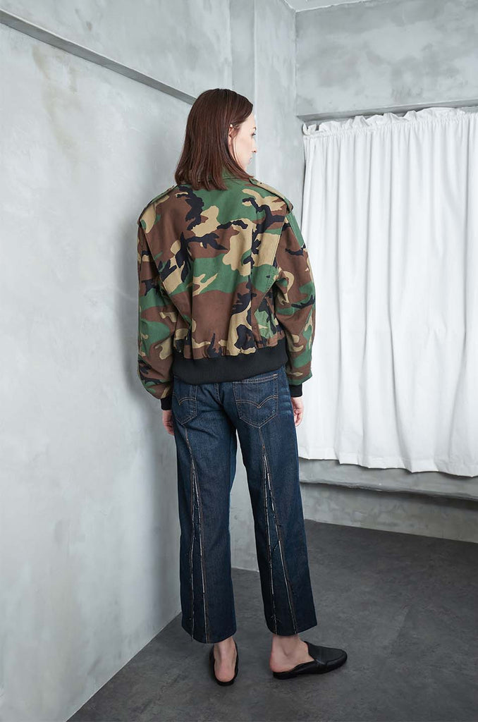 Ithaca Upcycled Cotton Jacket in Camo Print