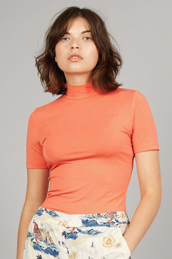 Jess Vegan Bamboo Top in Coral