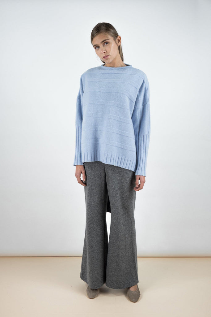 James Ethical Wool&Cashmere Sweater in Morning Sky Blue