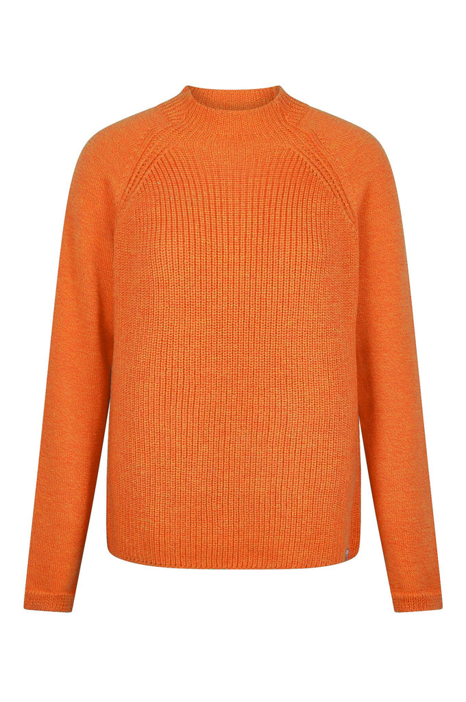Katty Biodegradable Merino Wool Sweater in Fire Orange