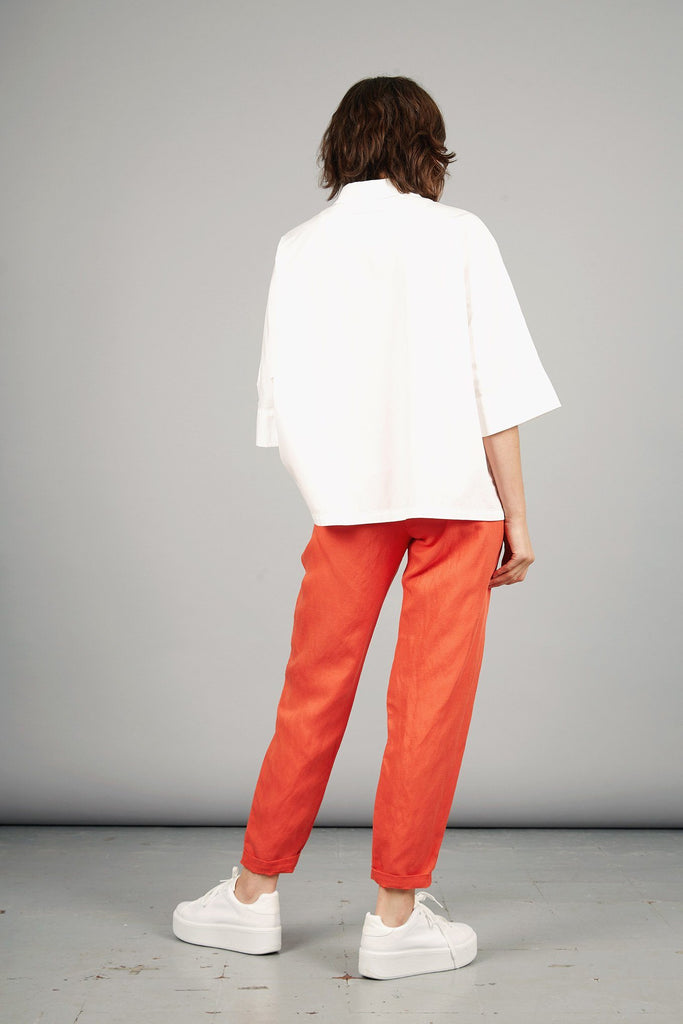 Lila Tencel & Linen Trousers in Spice