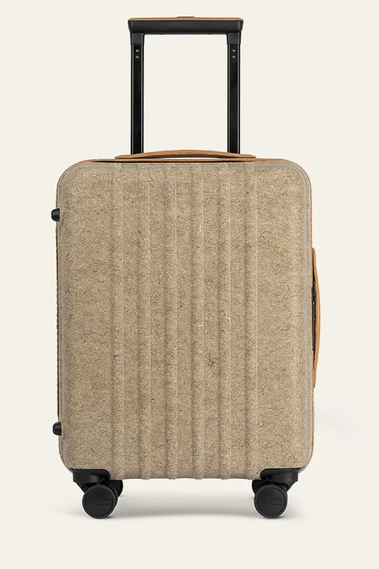 Kin Carry-on Natural Fiber Shell Suitcase in Different Colors