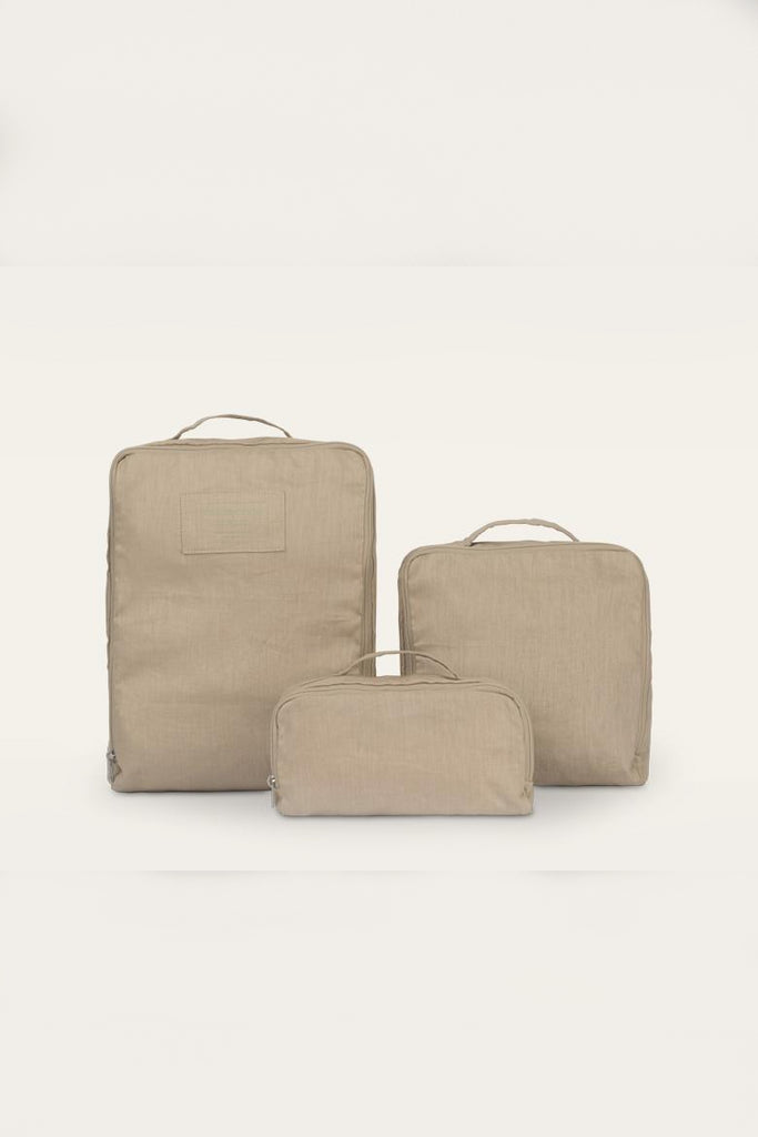 Kin Packing Cubes Natural Linen Bags in Different Colors
