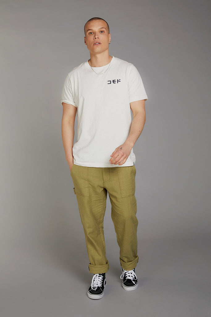 Kin SK8 Team Japan Organic Cotton T-shirt in White