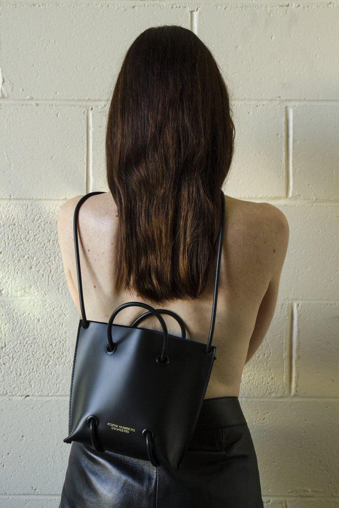 The Utility Ethical Leather Handbag in Black