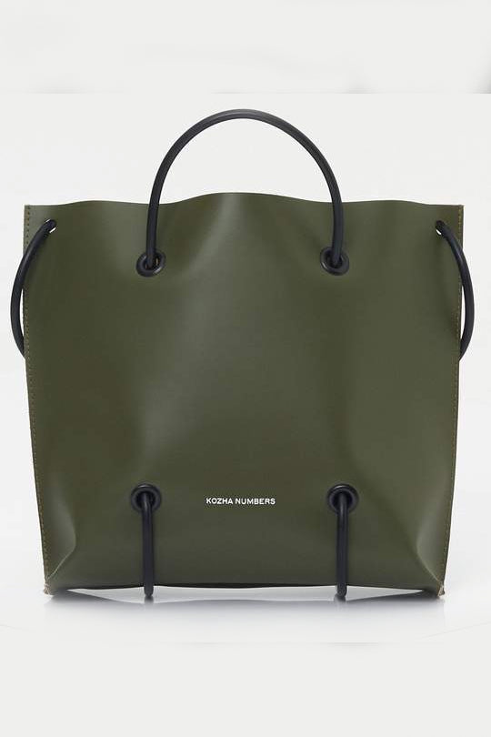 The Sample Utility Ethical Leather Handbag in Green