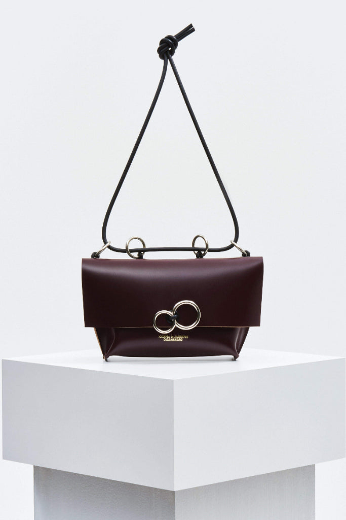 The Limited Edition Orbit Ethical Leather Handbag in Bordo