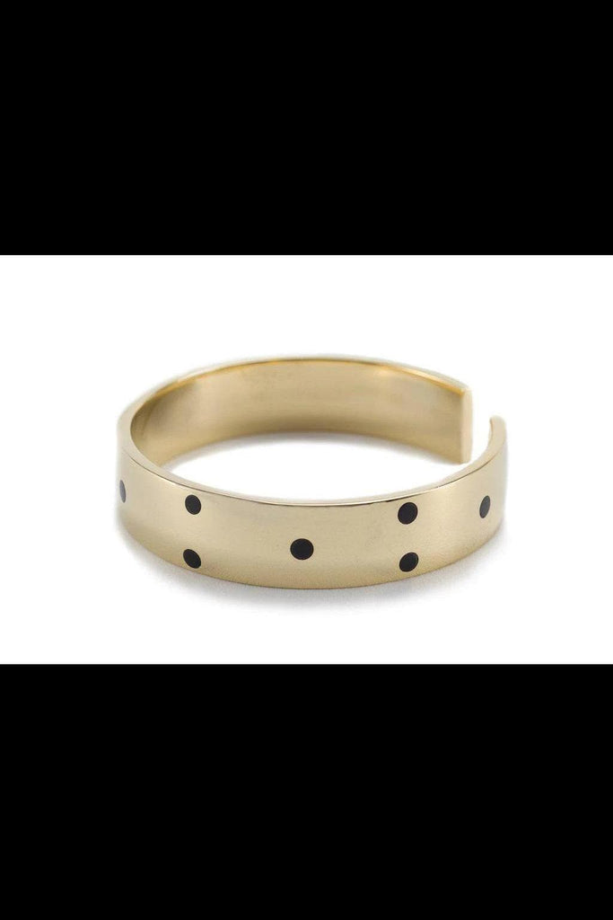 Kima Spotted Recycled Brass Bracelet