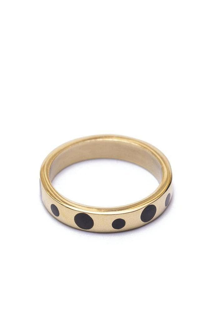Kisian Recycled Brass Horn Inlay Ring