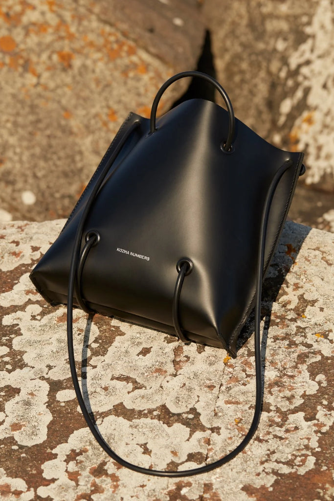 The Sample Utility Ethical Leather Handbag in Black