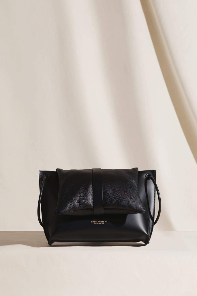The Lafer Ethical Leather Handbag in Black