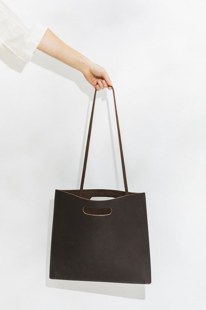 Slim Organic Leather Handmade Handbag in Different Colors