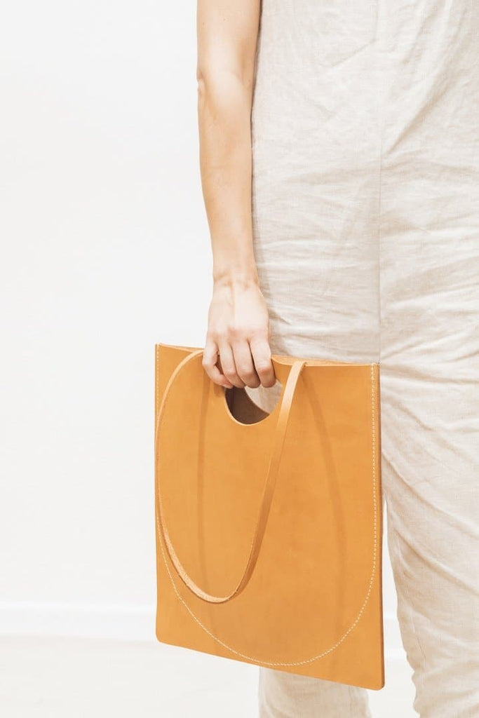 Moon Organic Leather Handmade Handbag in Different Colors