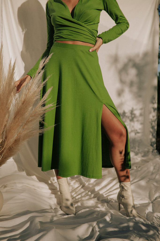 Tongass Organic Cotton Skirt in Green