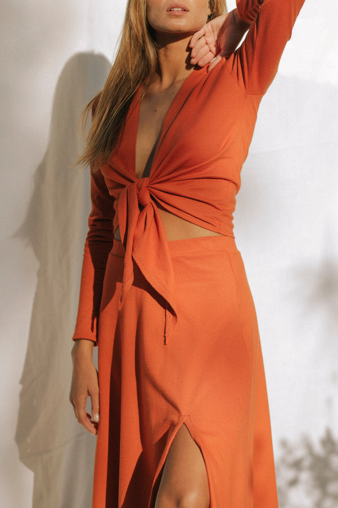Sundaland Organic Cotton Blouse in Orange
