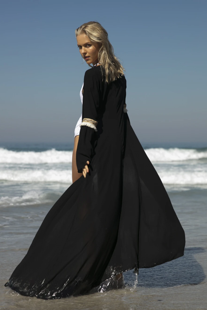 Leblon Biodegradable Coverup in Black
