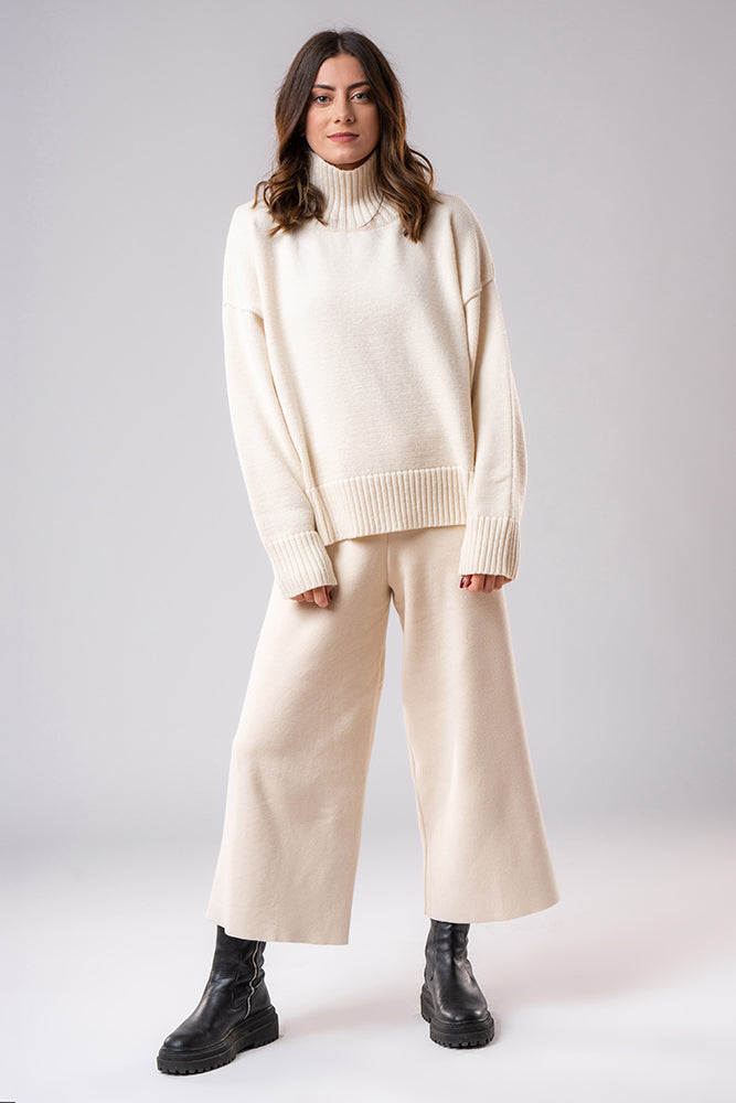 Organic Cotton Trousers Off White