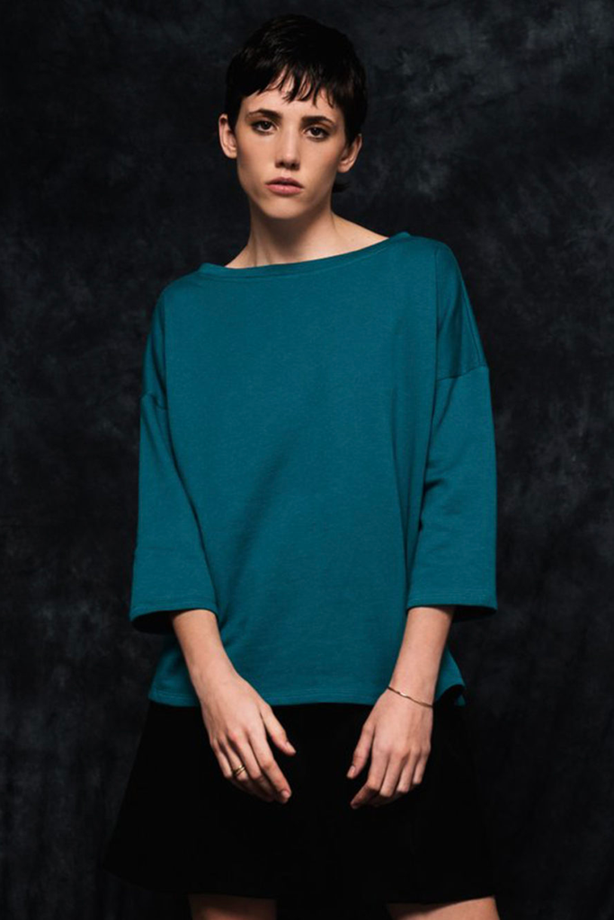 Martina Organic Cotton Sweatshirt in Green