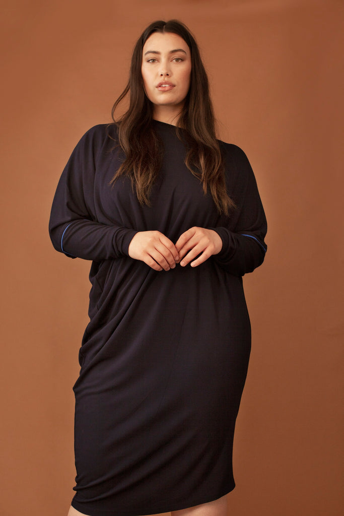 The Zoye Ethical Viscose Dress in Black