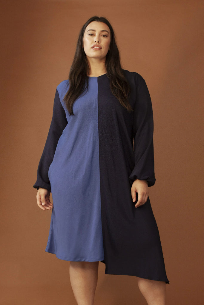 Olivia Vegan Viscose Dress in Blue