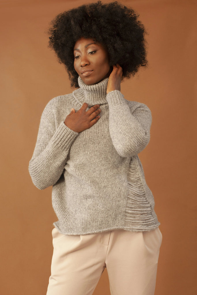 The New Bohemian Ethical Alpaca & Merino Wool Sweater in Gray