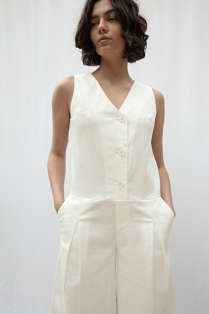 Hampstead Organic Cotton Jumpsuit in White