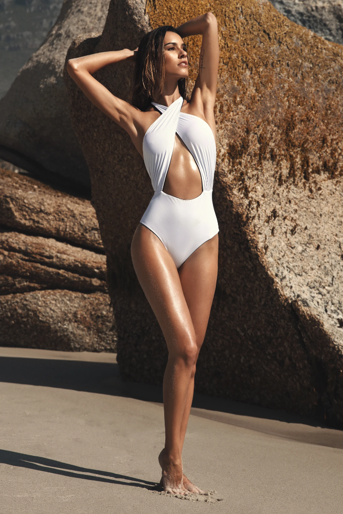 Manhattan Biodegradable Reversible Swimsuit in Black & White